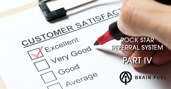 Referrals via customer survey